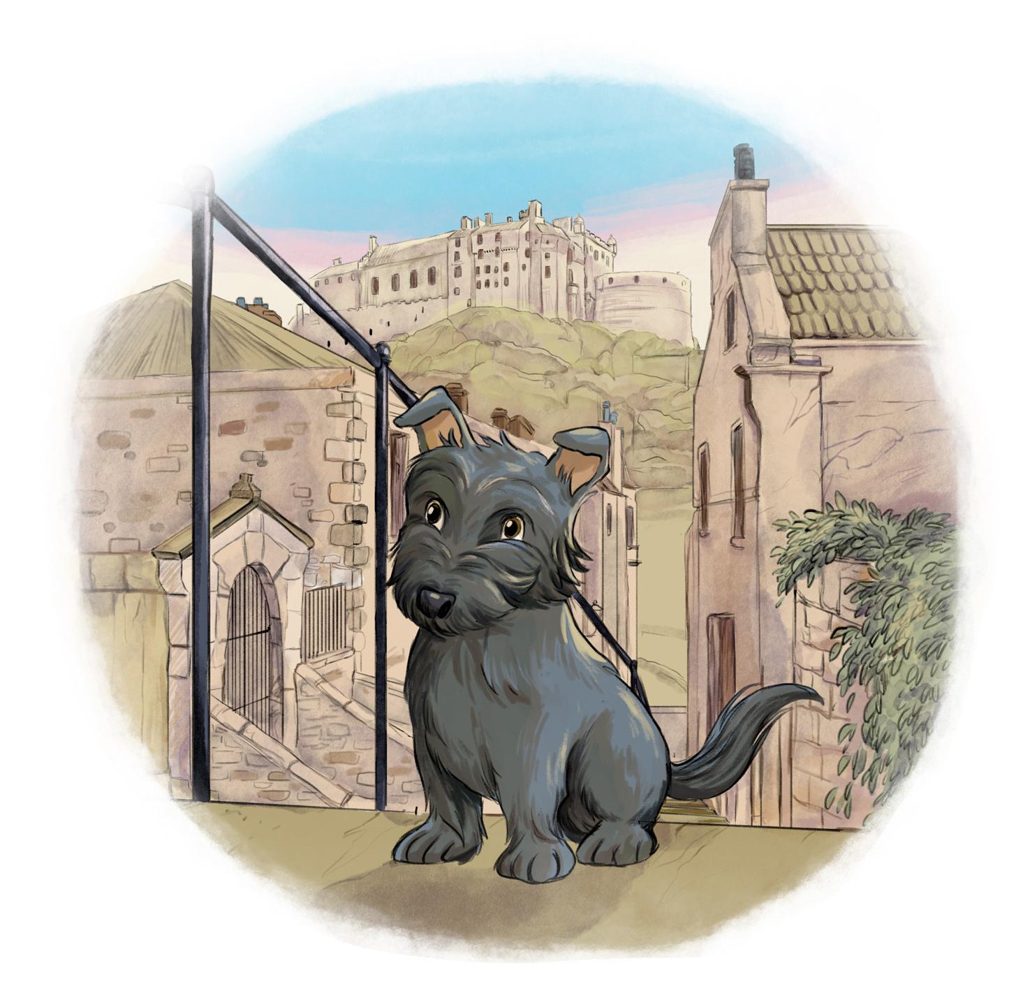 bobby the dog and the castle of Edimburgh