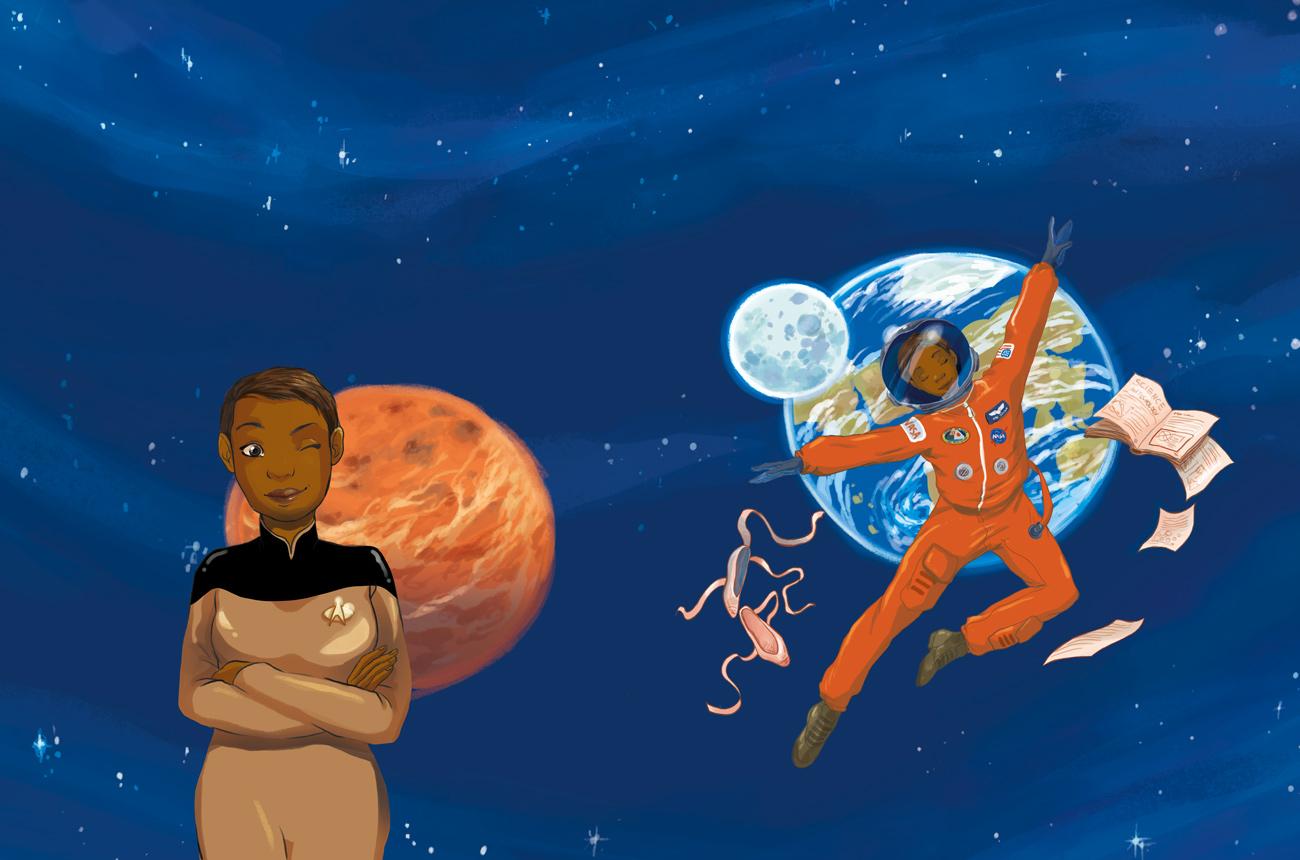 Mae Jemison cover illustration book space astronaut book