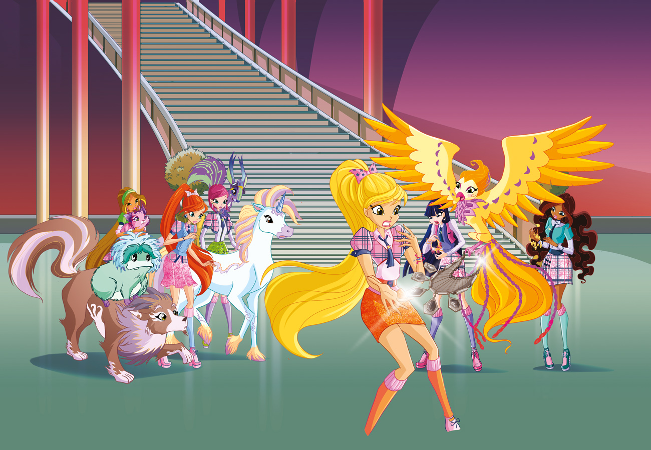 winx club cleanup color magical girls