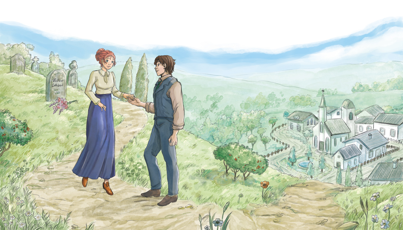 anne of green gables illustration adult lovers