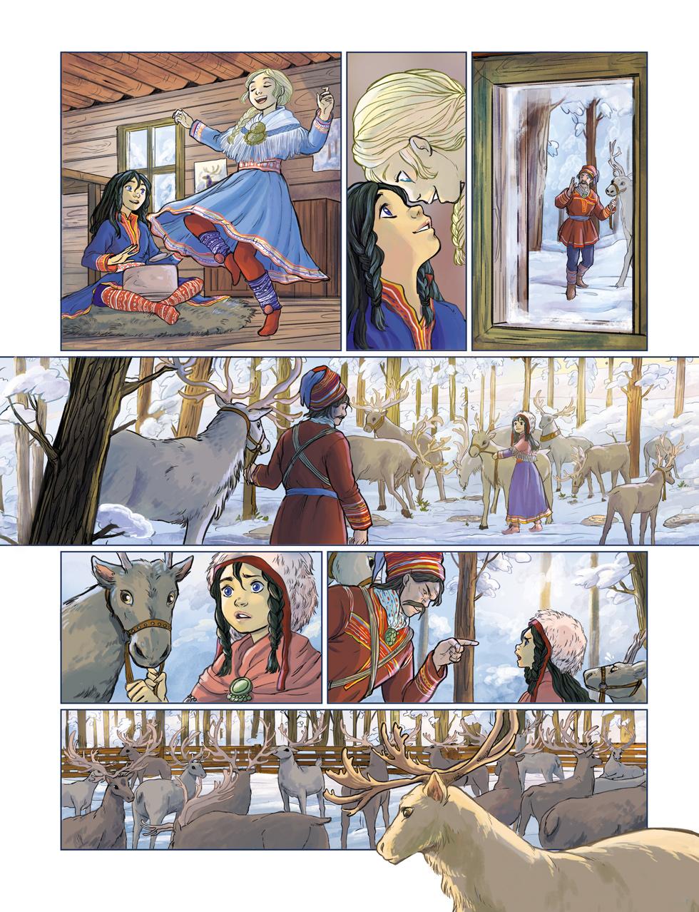 les-voyages-de-lotta-page-03/ Jungle Editions / reindeers sami people