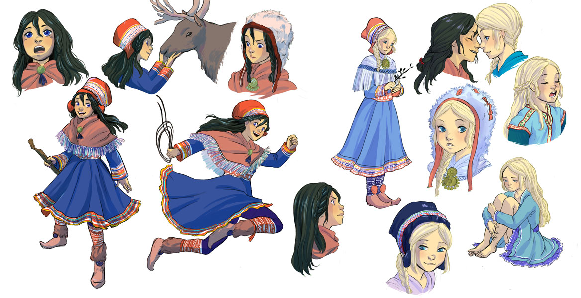 les voyages de lotta characters study sisters lotta solveig sami people girls