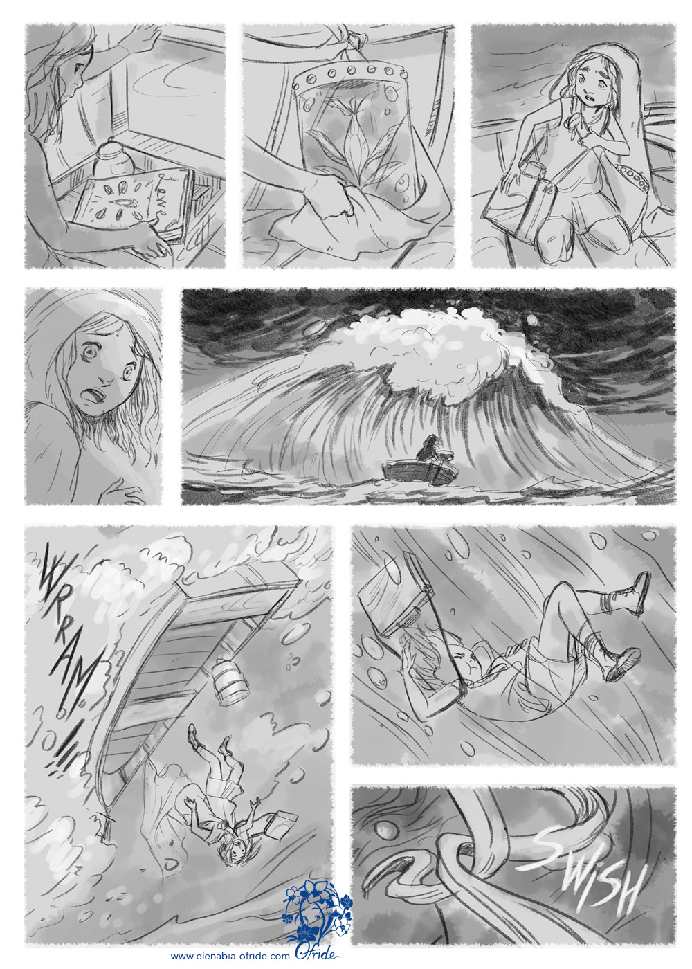 lewe comic page the storm on the sea