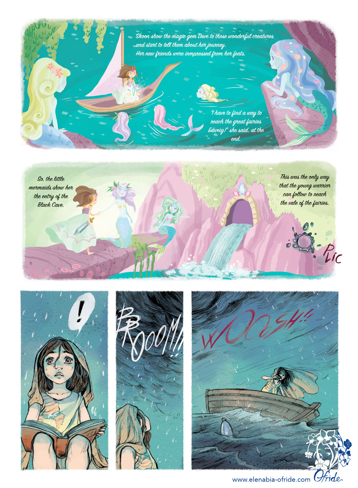 lewe comic page marmaids and the warrior