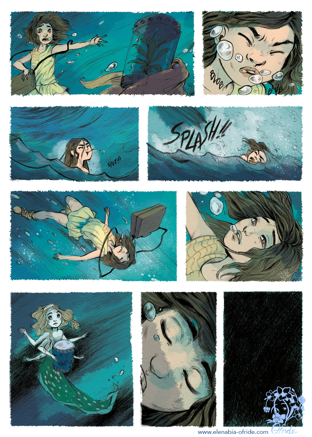 lewe comic page the child lost in the sea