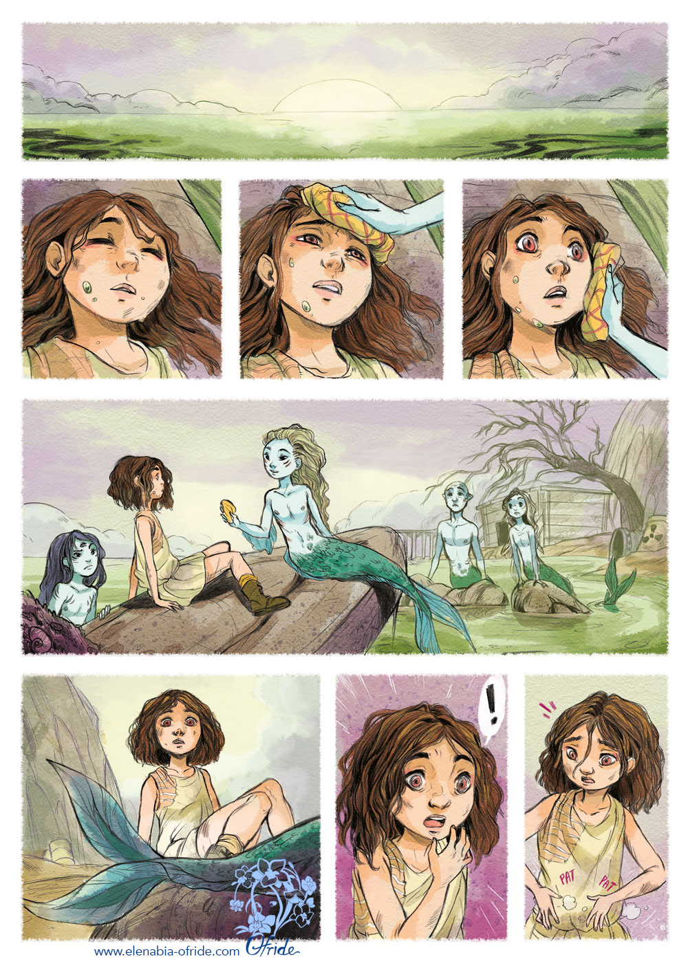 lewe comic page the child saved by the mermaids