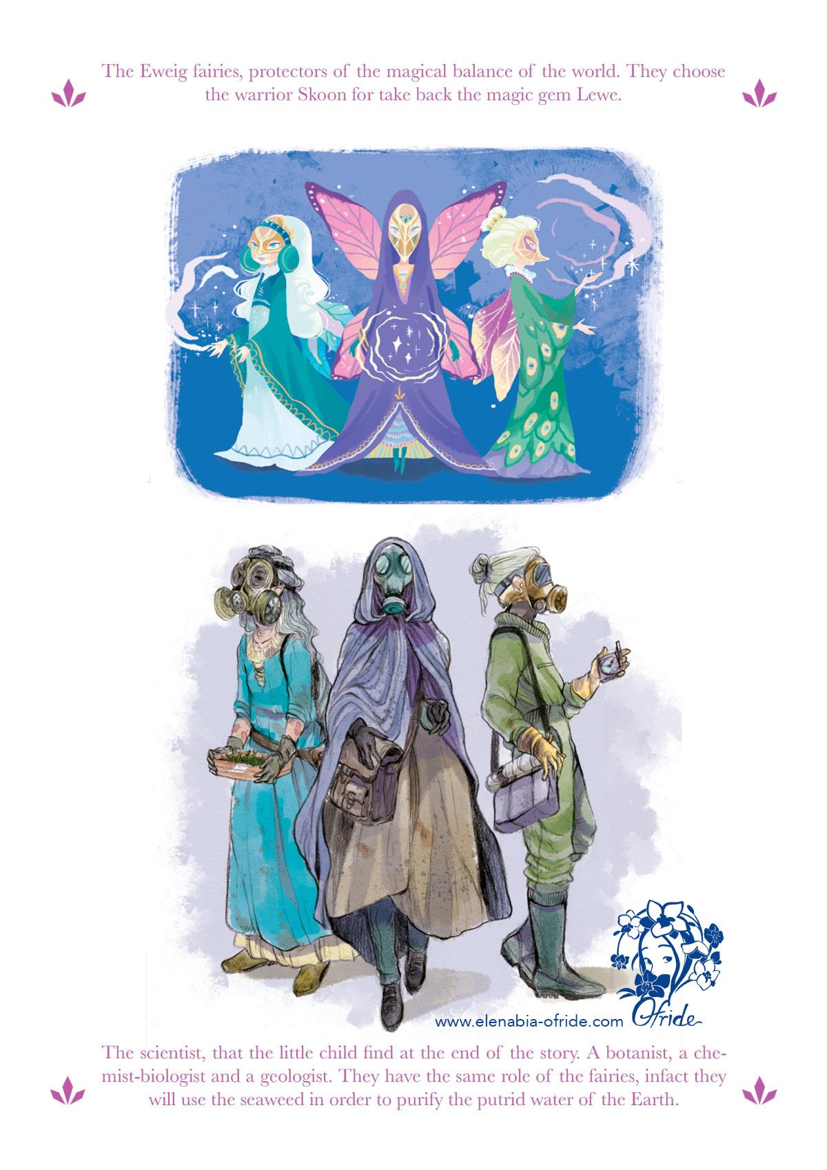lewe characters studies fayries and scientists