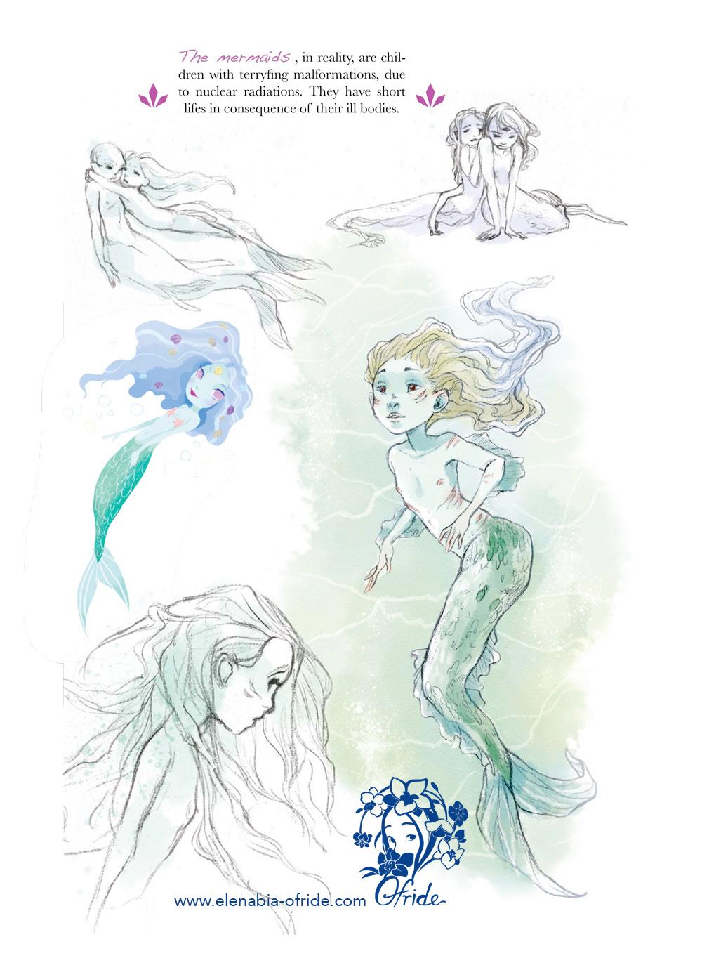 lewe characters studies mermaids